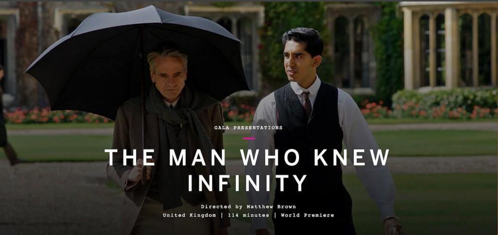 在电影《知无涯者》中,dev patel饰演的拉马努金(右)与他在剑桥的导师