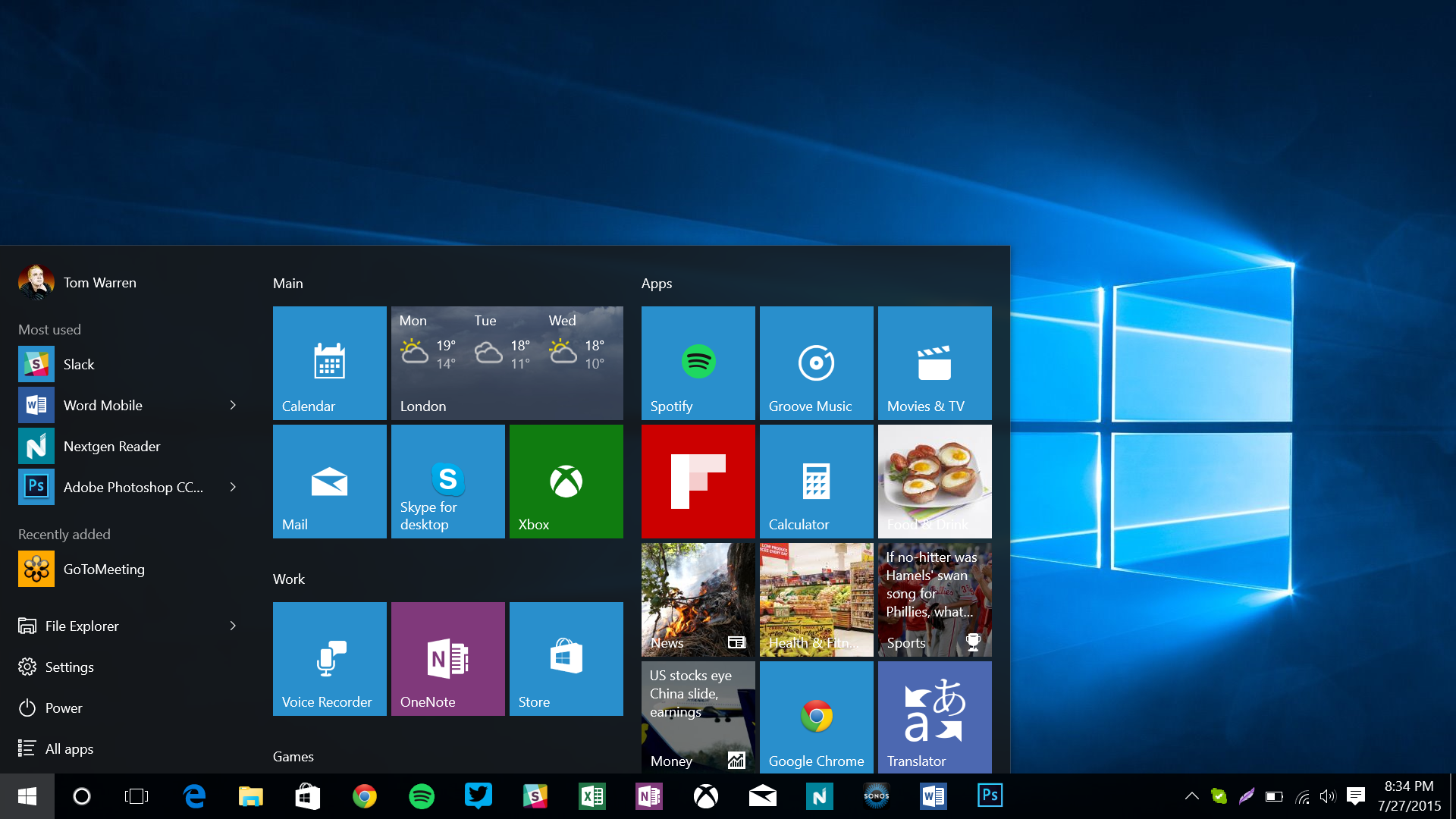 Windows10 界面