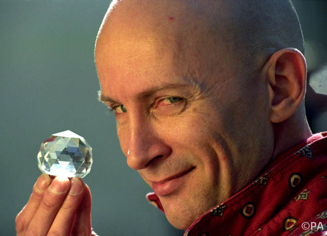"Rocky Horrow Show creator, Richard O'Brien during a photocall at Channel Four television for a new series of his show "" The Crystal Maze""."