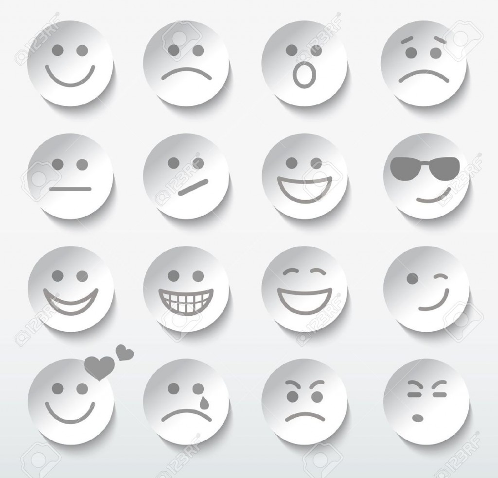 20352738-Set-of-faces-with-various-emotion-expressions--Stock-Vector-smiley-face-icon