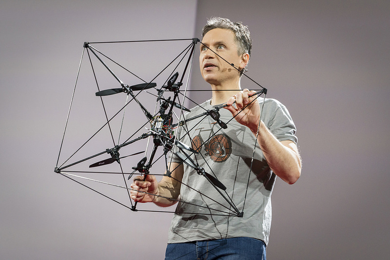 The Omnicopter. Photo: Bret Hartman / TED